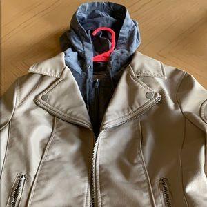 Faux moto leather jacket